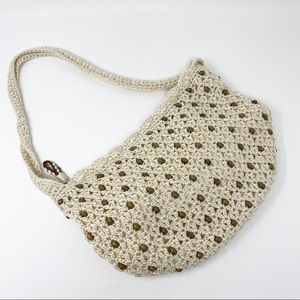 Vintage The Sak Crochet Beaded Purse